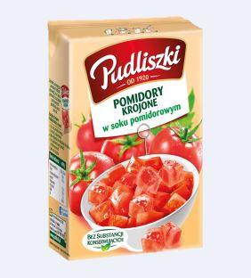 ile ma kalorii Pomidory krojone w soku pomidorowym