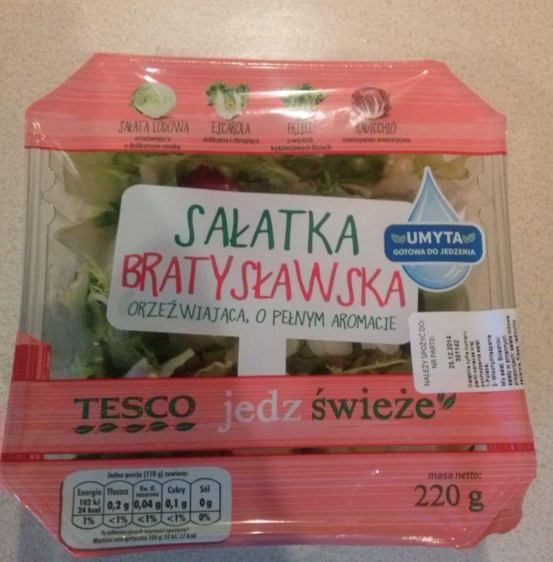 ile ma kalorii Sałatka bratysławska