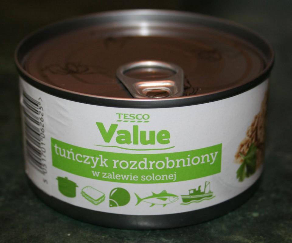 ile ma kalorii Tuńczyk rozdrobniony w zalewie solonej