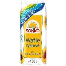 ile ma kalorii  Wafle ryżowe ze słonecznikiem