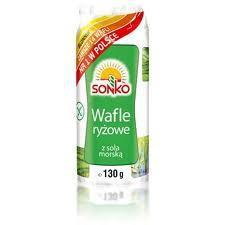 ile ma kalorii  Wafle ryżowe z solą morską