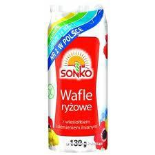ile ma kalorii  Wafle ryżowe z wiesiołkiem i siemieniem lnianym