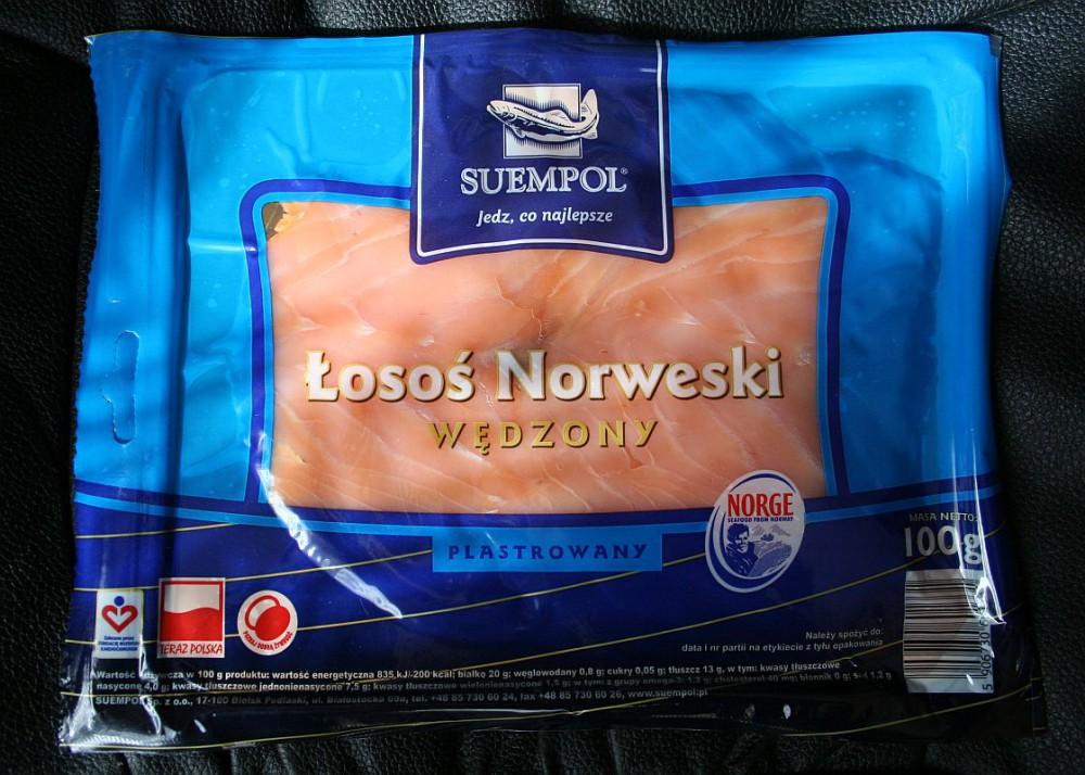 ile ma kalorii Łosoś norweski wędzony plastrowany