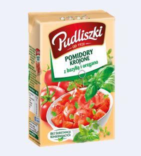 ile ma kalorii Pomidory krojone z bazylią i oregano