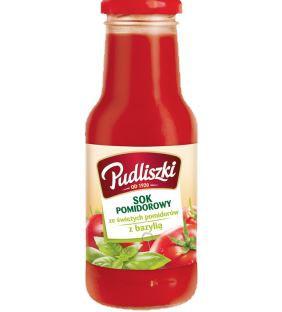 ile ma kalorii Sok pomidorowy z bazylią