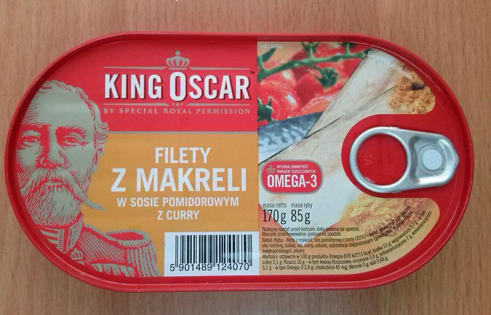 ile ma kalorii Filety z makreli w sosie pomidorowym z curry