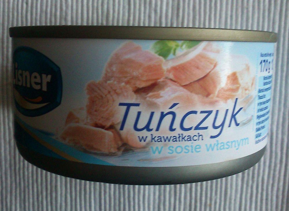 ile ma kalorii Tuńczyk w kawałkach w sosie własnym