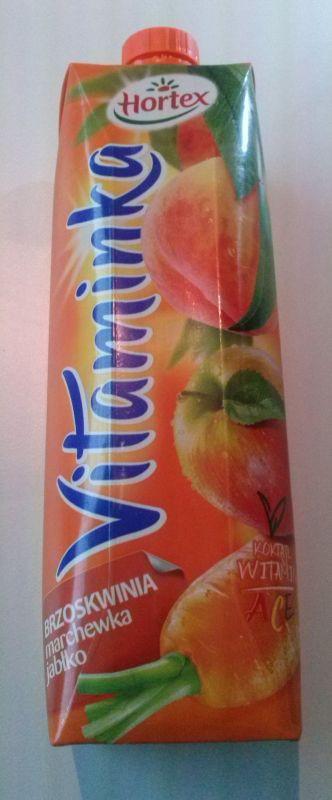 ile ma kalorii Sok Vitaminka z brzoskwiń, marchwi i jabłek