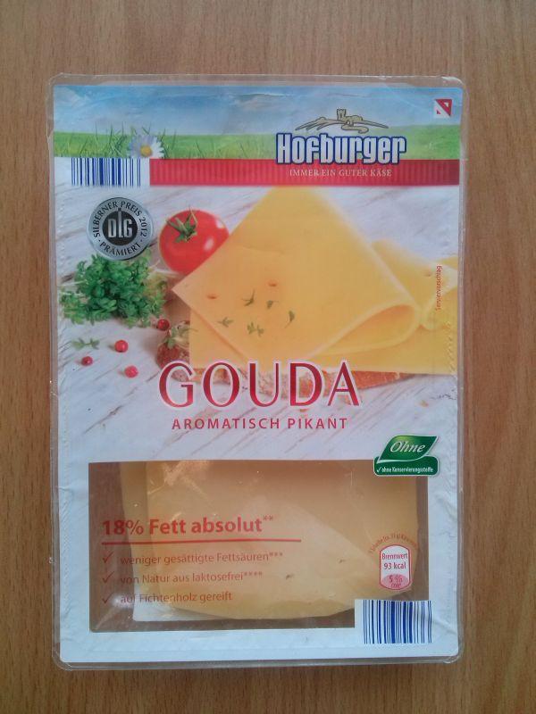 ile ma kalorii Gouda aromatisch pikant 18% fett