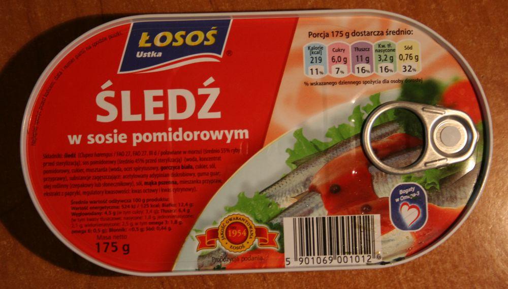 ile ma kalorii Śledź w sosie pomidorowym