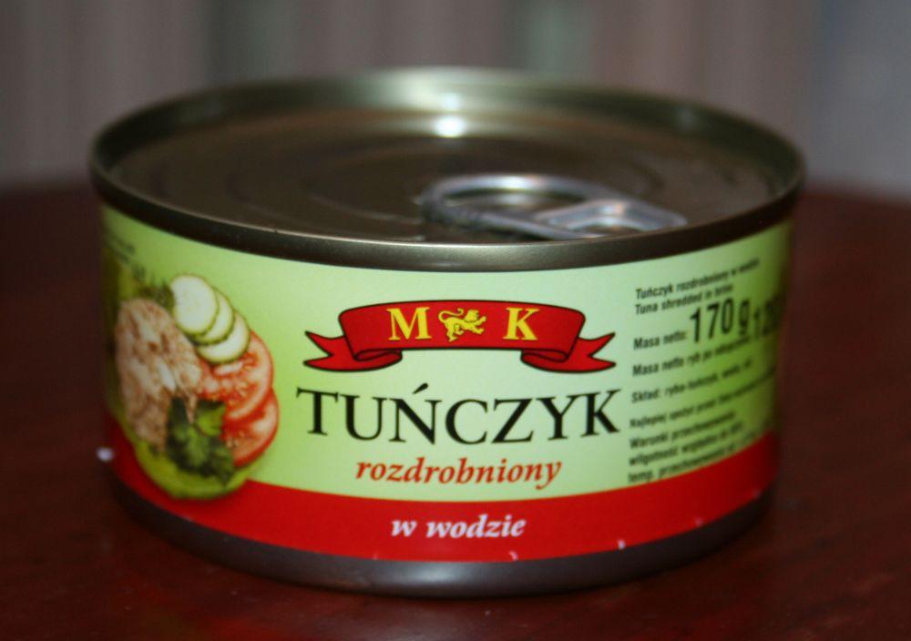 ile ma kalorii Tuńczyk rozdrobniony w wodzie