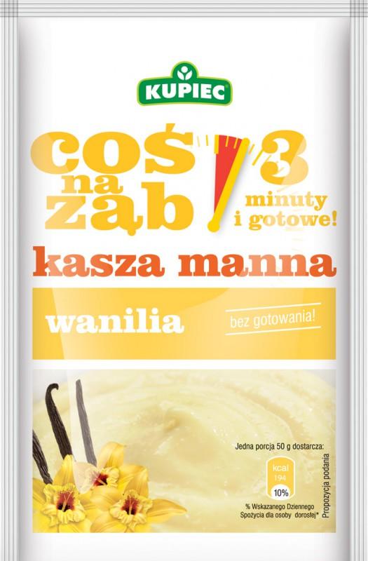 ile ma kalorii Kasza Manna Instant Waniliowa - Coś na Ząb