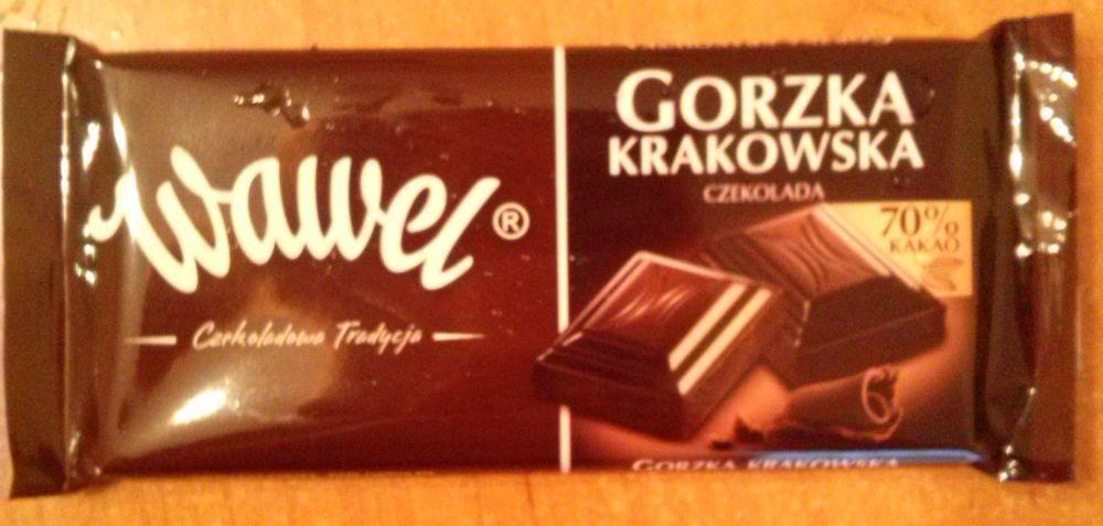 ile ma kalorii Czekolada gorzka Krakowska 70% kakao