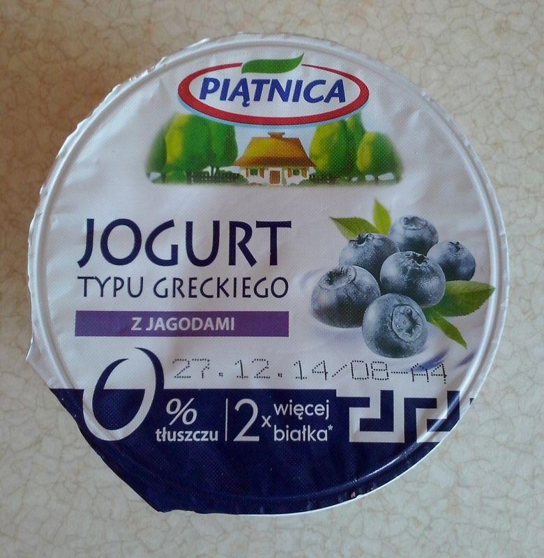 ile ma kalorii Jogurt typu greckiego z jagodami