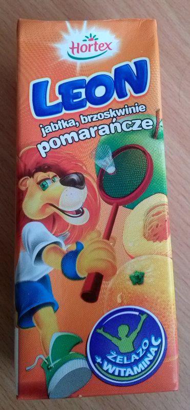 ile ma kalorii Leon napój  jabłka, brzoskwinie i pomarańcze