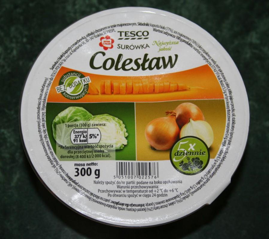 ile ma kalorii Colesław