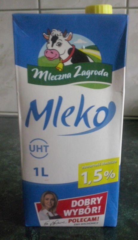 ile ma kalorii Mleko 1,5%