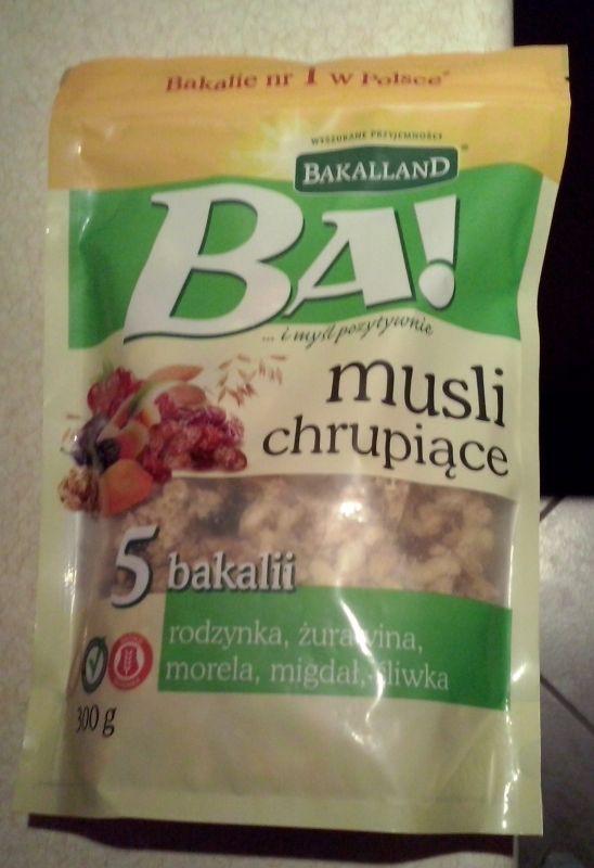 ile ma kalorii Musli chrupiące Ba!