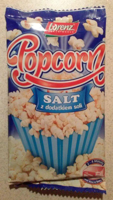 ile ma kalorii Popcorn z dodatkiem soli
