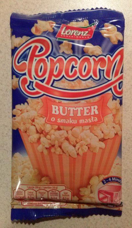 ile ma kalorii Popcorn o smaku masła