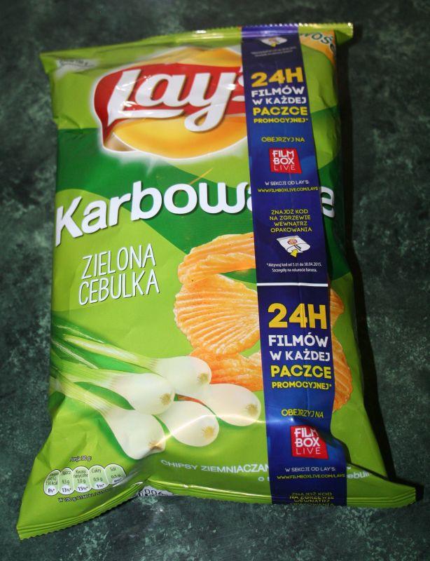 ile ma kalorii Chipsy karbowane zielona cebulka