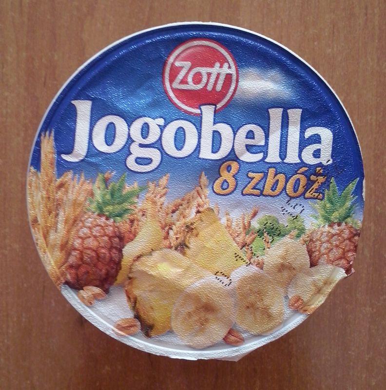 ile ma kalorii Jogobella 8 zbóż z ananasem i bananami