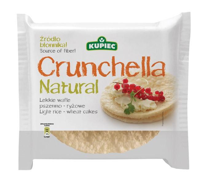 ile ma kalorii Crunchella Natural - lekkie wafle pszenno ryżowe