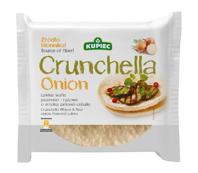 ile ma kalorii Crunchella Onion - lekkie wafle pszenno - ryżowe