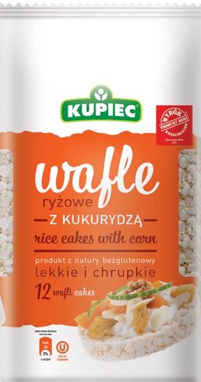 ile ma kalorii Wafle ryżowe z kukurydzą